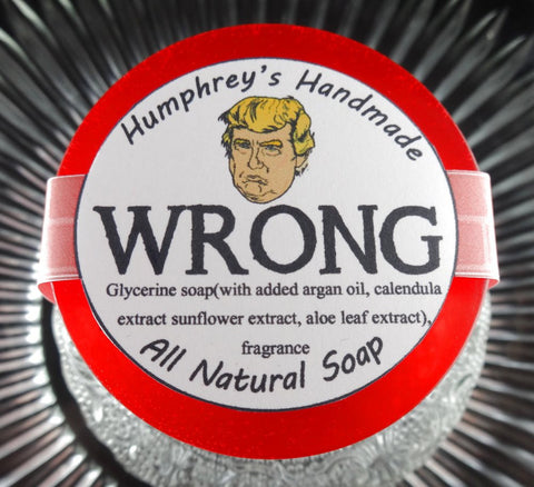 WRONG Donald Trump Shave Shampoo Soap | Chestnuts & Brown Sugar | Unisex - Humphrey's Handmade