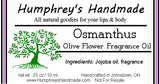 OSMANTHUS Perfume | Peach Tea Fragrance | Sweet Olive | Japanese | Moisturizing Jojoba Oil - Humphrey's Handmade