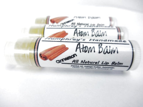 ATOM BALM Lip Balm | Cinnamon Bark Extract | Spicy - Humphrey's Handmade