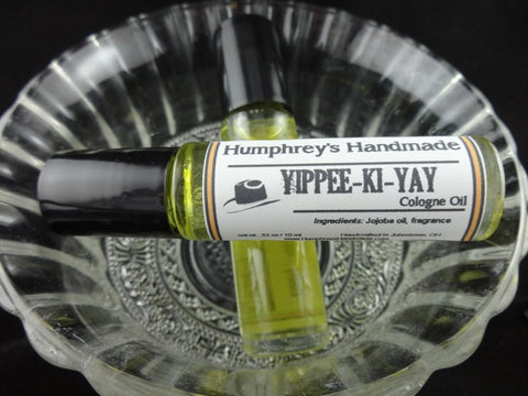 YIPPEE-KI-YAY Cologne Oil | Men's Roll On | Very Sexy Type | Moisturizing Jojoba Oil - Humphrey's Handmade