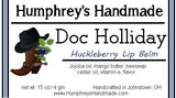 DOC HOLLIDAY Lip Balm | Huckleberry Flavor - Humphrey's Handmade