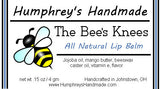 THE BEE'S KNEES Lip Balm | Tupelo Honey Flavor - Humphrey's Handmade