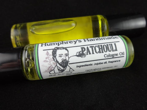 PATCHOULI Cologne Oil | Unisex Roll On Cologne | Essential Oil | Jojoba Oil - Humphrey's Handmade