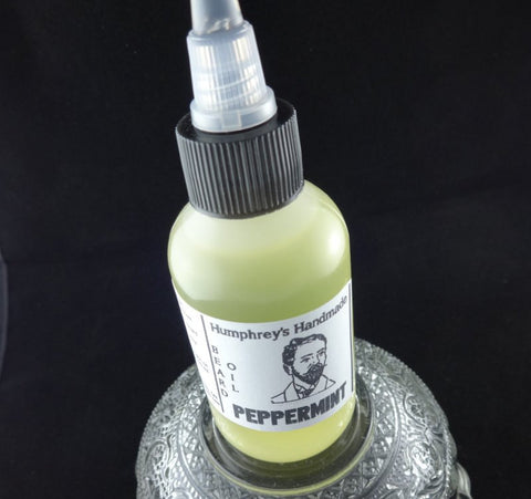 PEPPERMINT Beard Oil | Essential Oil | 2 oz - Humphrey's Handmade