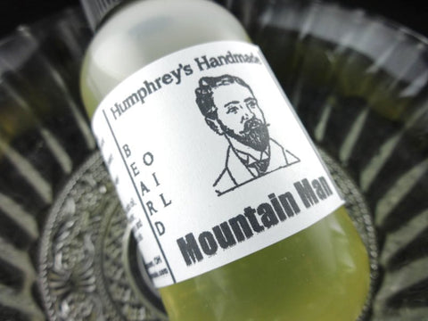 MOUNTAIN MAN Beard Oil | Lavender Peppermint Lime | Essential Oil | 2 oz - Humphrey's Handmade