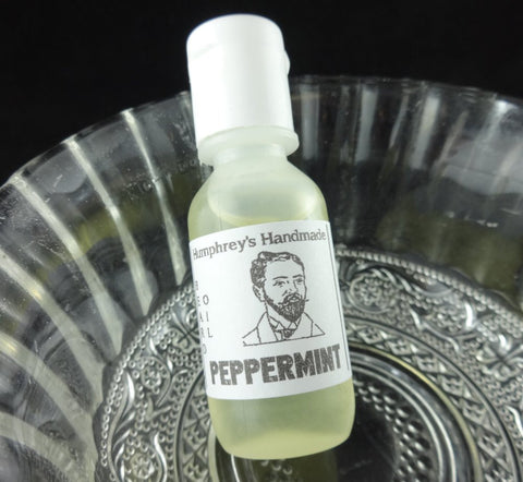 PEPPERMINT Beard Oil | .5 oz Sample | Peppermint Scent | Essential Oil - Humphrey's Handmade