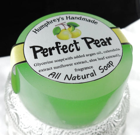 PERFECT PEAR Soap | Glycerin Juicy Pear Scent | Women's Soap | Argan Oil - Humphrey's Handmade