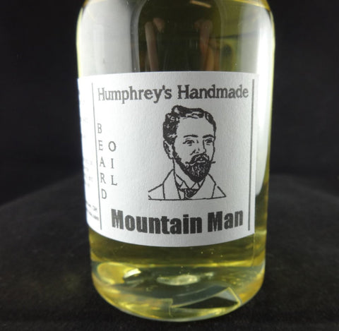 MOUNTAIN MAN Beard Oil | All Natural Beard Oil | 4 oz | Essential Oils | Lavender Peppermint Orange - Humphrey's Handmade