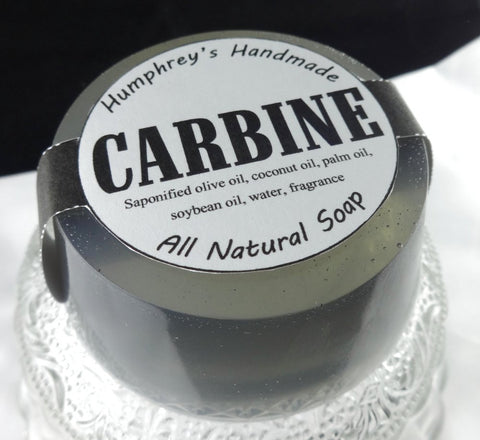 CARBINE Soap | Gun Oil Scent | Beard Wash | Glycerin Shave Soap - Humphrey's Handmade