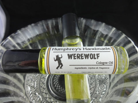 WEREWOLF Men's Cologne Oil | Roll On | Citrus | Cedar | Vetiver | Musk - Humphrey's Handmade