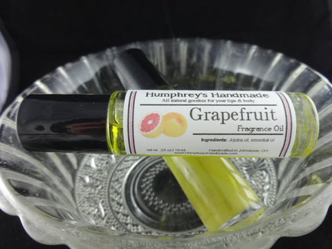 GRAPEFRUIT Fragrance Roll-On | Essential Oil | Citrus | Golden Jojoba Oil - Humphrey's Handmade