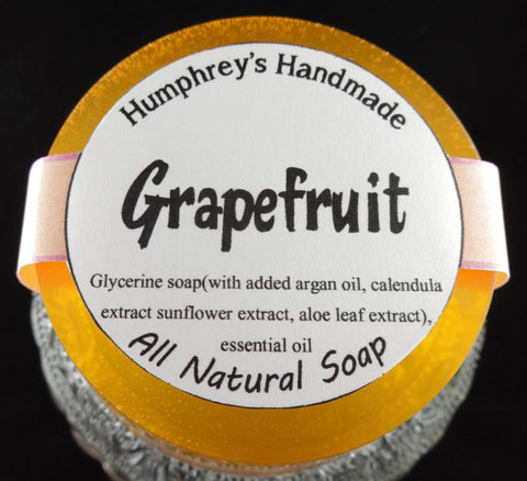 GRAPEFRUIT Soap | Glycerin Citrus Soap | Essential Oil | Beard Wash | Shave Soap - Humphrey's Handmade