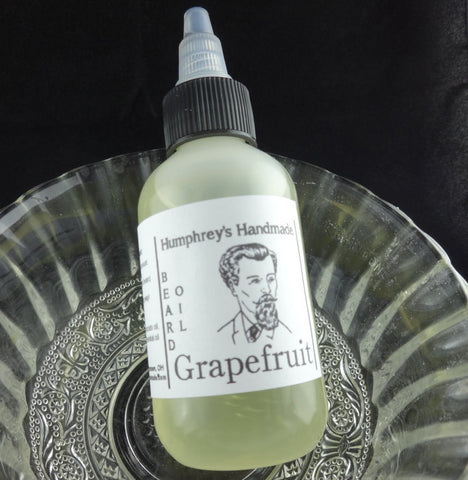 GRAPEFRUIT Beard Oil | Essential Oil | 2 oz - Humphrey's Handmade