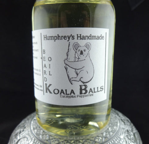 KOALA BALLS Beard Oil | 4 oz | Eucalyptus Peppermint Essential Oil - Humphrey's Handmade