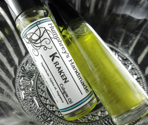 KRAKEN Cologne Oil | Men's Roll On | Aqua Di Geo Type - Humphrey's Handmade