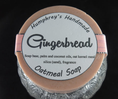 GINGERBREAD Oatmeal Soap | Exfoliating Christmas Cookie Soap Puck - Humphrey's Handmade