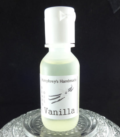VANILLA Beard Oil | .5 oz Sample Size | Warm Vanilla Scent - Humphrey's Handmade