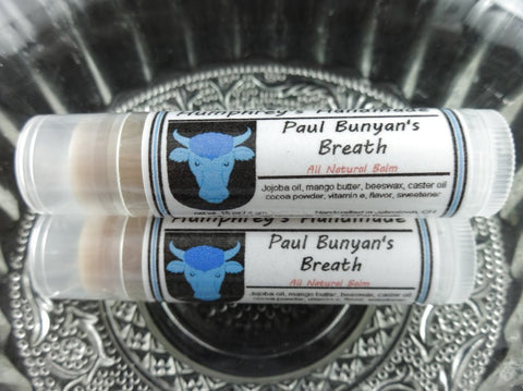 PAUL BUNYAN'S BREATH Lip Balm | Chocolate & Bacon Flavor - Humphrey's Handmade