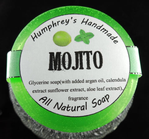 MOJITO Shave & Shampoo Soap | Unisex | Beard Wash | Lime and Peppermint | Essential Oil - Humphrey's Handmade