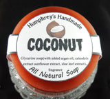 COCONUT Glycerin Soap | Tropical Shave & Shampoo Soap | Unisex | Argan Oil - Humphrey's Handmade