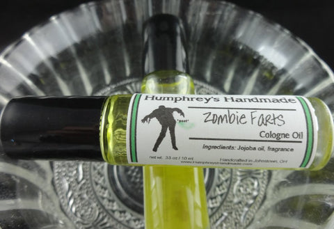 ZOMBIE FARTS Cologne Oil | Roll On Perfume| Vanilla Fragrance Oil | Horror | Halloween - Humphrey's Handmade