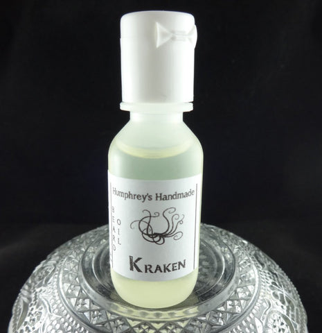 KRAKEN Beard Oil | .5 oz Sample Size | Ocean Aqua Di Geo Type - Humphrey's Handmade