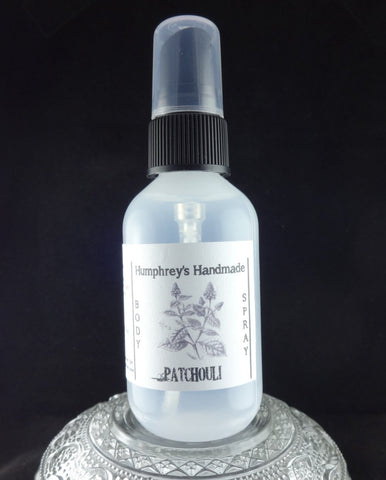 PATCHOULI Body Spray | 2 oz | Essential Oil | All Natural Earthy | Unisex - Humphrey's Handmade
