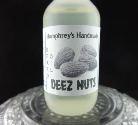 DEEZ NUTS Beard Oil | .5 oz Sample Size | Almond Honey Scent - Humphrey's Handmade