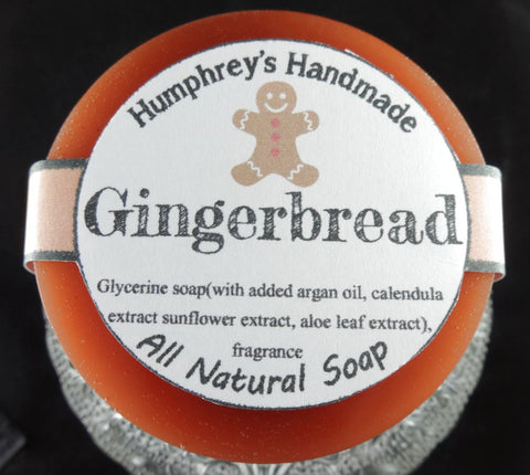 GINGERBREAD Soap | Nutmeg | Ginger | Cinnamon | Clove | Glycerin Christmas Soap - Humphrey's Handmade