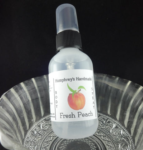 FRESH PEACH Body Spray | 2 oz | Room Spray | All Natural - Humphrey's Handmade