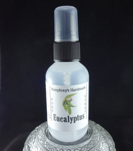 EUCALYPTUS Body Spray | Unisex | Essential Oil | 2 oz - Humphrey's Handmade