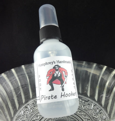 PIRATE HOOKER Body Spray | Mango Papaya | 2 oz | Funny - Humphrey's Handmade