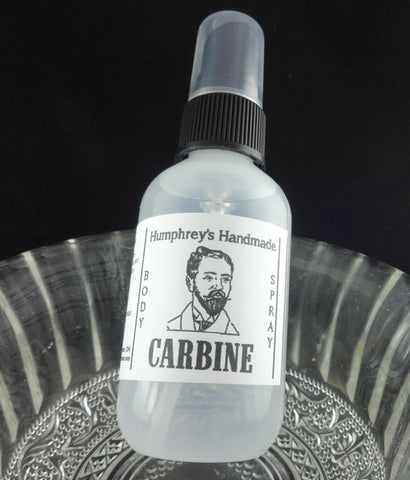 CARBINE Men's Body Spray | 2 oz | Gun Oil Scent | All Natural Room Spray - Humphrey's Handmade