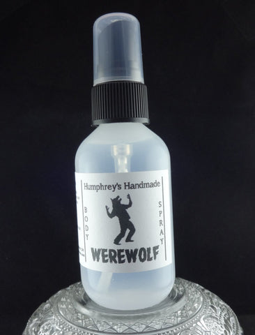 WEREWOLF Men's Body Spray | 2 oz | Citrus | Cedar | Musk | Twilight Woods Type - Humphrey's Handmade