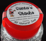 SANTAS 'STACHE Soap | Glycerin Cherrywood Tobacco Raspberry Scented | Unisex | Shave Bar | Beard Wash - Humphrey's Handmade
