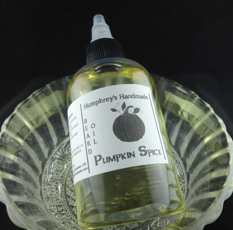 PUMPKIN SPICE Beard Oil | 4 oz | Nutmeg | Cinnamon | Pumpkin Pie - Humphrey's Handmade