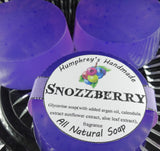 SNOZZBERRY Soap | Mixed Berry | Wildberry Scented Glycerin Soap | Shampoo Bar | Argan Oil - Humphrey's Handmade