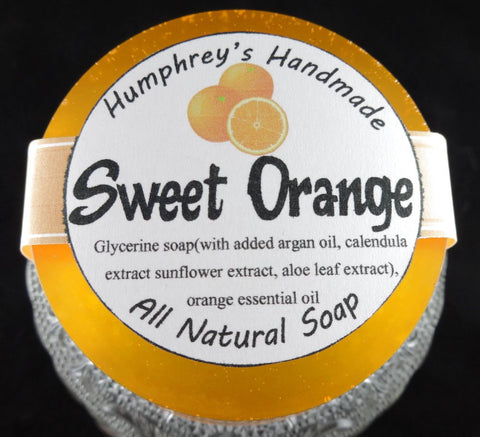 SWEET ORANGE Soap | Essential Oil | Shave Soap | Body Bar | Shampoo Puck - Humphrey's Handmade