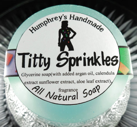 TITTY SPRINKLES Soap | Buttercream and Cake Scent | Shave & Shampoo Puck - Humphrey's Handmade