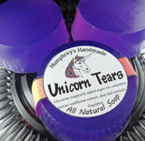 UNICORN TEARS Soap | Cherry Coconut Buttercream Scent | Shave & Shampoo Soap | Unicorn Soap - Humphrey's Handmade