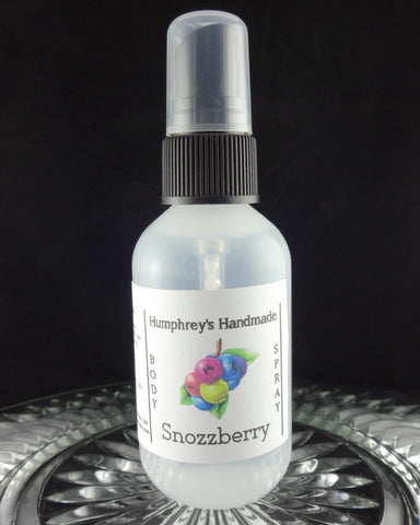 SNOZZBERRY Body Spray | 2 oz | Wildberry | Mixed Berries Perfume - Humphrey's Handmade