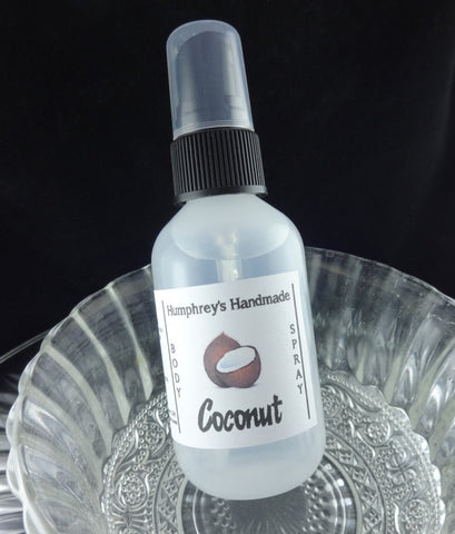 COCONUT Unisex Body Spray | Tropical | 2 oz | Room Spray - Humphrey's Handmade