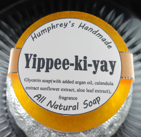 YIPPEE-KI-YAY Soap | Men's Shaving Soap | Beard Wash | Shampoo Bar | Very Sexy For Men Type | Argan Oil - Humphrey's Handmade