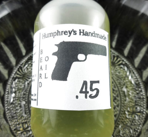.45 Beard Oil | Fresh Barbershop Scent | Gun Gift | 2 oz - Humphrey's Handmade