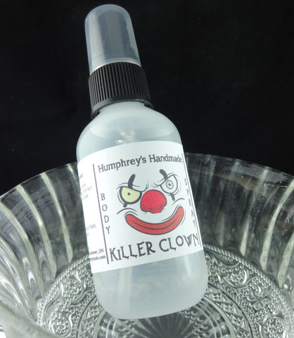 KILLER CLOWN Body Spray | Cotton Candy Scent | All Natural Perfume | 2 oz - Humphrey's Handmade