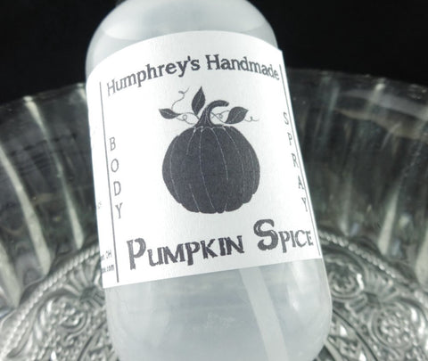 PUMPKIN SPICE Body Spray | 2 oz | Pumpkin Pie | Cinnamon | Nutmeg | Fall - Humphrey's Handmade