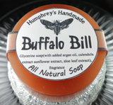 BUFFALO BILL Soap | Leather Scent | Shave Soap | Beard Wash | Body Bar - Humphrey's Handmade