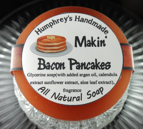 MAKIN BACON PANCAKES Soap | Maple Bacon Scented | Unisex | Glycerin Puck | Beard Wash - Humphrey's Handmade