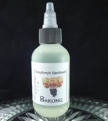 BARONG Beard Oil, Indonesian Teak Wood, 2 oz - Humphrey's Handmade