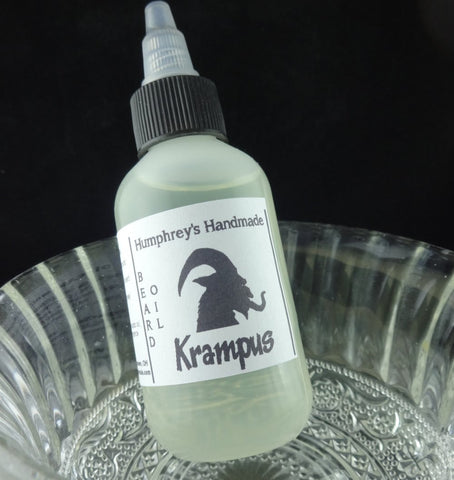 KRAMPUS Beard Oil | Christmas Peppermint Scented | 2 oz - Humphrey's Handmade
